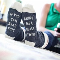 Christmas cute wine socks