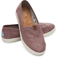 MAUVE COATED CANVAS WOMEN'S AVALON SLIP-ONS