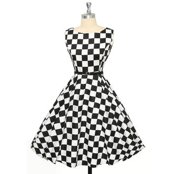 50s Vintage Dress Women Summer Style Pin Up Retro Robe Dresses Plus Size XS-XXXL  Polka Dot Audrey Hepburn Vestidos Femininos