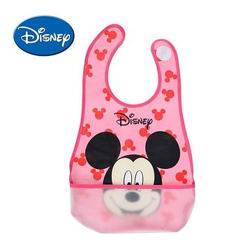 Disney Water-proof Baby Bibs Mickey Burp Saliva Towel Minnie Cartoon Children Cloths Cotton Boy And Girl Bib Babador Accessories