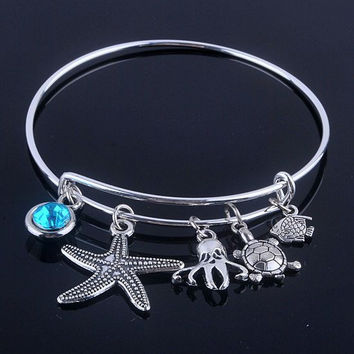 Starfish Aquatic Bracelet - Assorted Charms