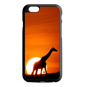 Sunset Giraffe For iphone 6 case