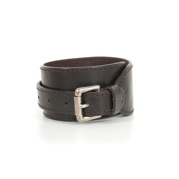 Monogram Leather Cuff