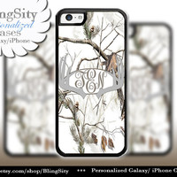 Gray Grey Antlers Monogram iPhone 5C 6 Plus Case Browning iPhone 5s iPhone 4 case Ipod White Camo Deer Personalized Country Inspired Girl