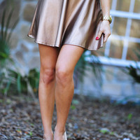 Pour Some Leather On Me Skirt: Bronze | Hope's