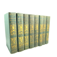 Works of Edgar Allan Poe from 1910. Eight Volumes
