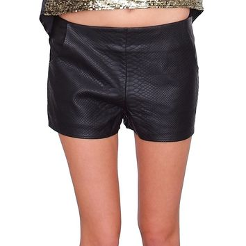Rule The Weekend Shorts - Black Leather