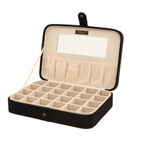 Mele Maria Plush Compartment Travel Case Jewelry Box