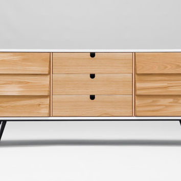 Sideboard, dresser, cupboard, credenza in oak ,media console,media center Mid century,tantik