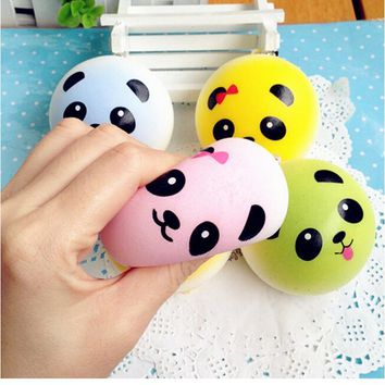 4 cm Cute Panda Squishy Kawaii Buns Bread Charms Key/Bag/Cell Phone Straps Bag Parts & Accessories