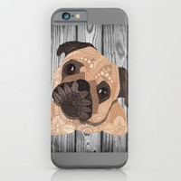 Pug Hug iPhone & iPod Case by ArtLovePassion