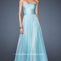 Fitted Sequined Gown by La Femme