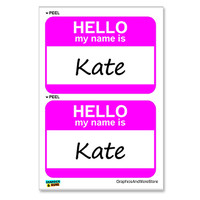 Kate Hello My Name Is - Sheet of 2 Stickers