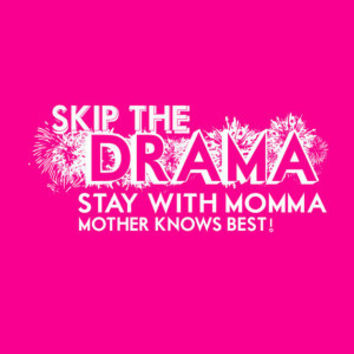 Mother knows best... funny tangeled hot pink quote poster... digital file
