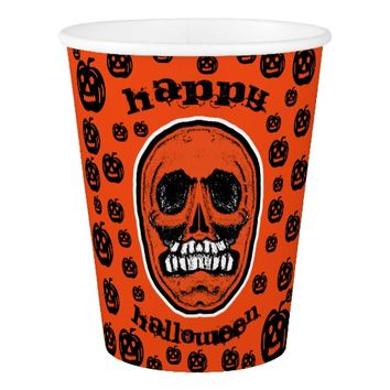 Happy Halloween - Grinder Teeth Skull Paper Cup