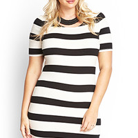 FOREVER 21 PLUS Striped Bodycon Dress