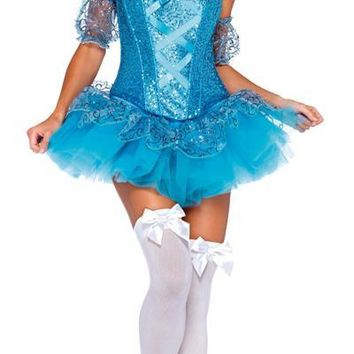 Cinderella Medium Adult 8-10 Girls Women's Costume