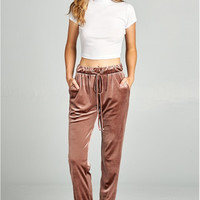 Velvet Jogger Pants - 2 Colors!