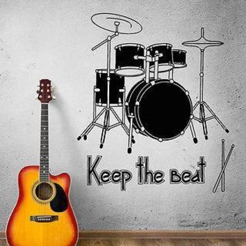 Wall Decal Music Art Rock Drum Rhythm ��oncert Beat Vinyl Stickers Unique Gift (ed008)