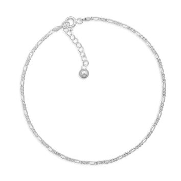 """9"""" + 1""""Extension Figaro Chain Anklet"""