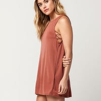 FULL TILT Cross Side Rib Cupro Dress | Short Dresses