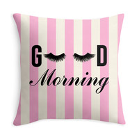 Good Morning Lashes - Decor Pillow (more colors)