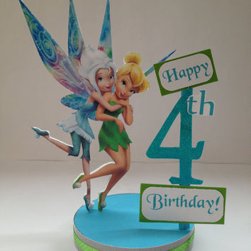 Tinkerbell Periwinkle Custom Birthday Party Centerpiece