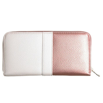 Colorblock Fashion Wallet with Wristlet