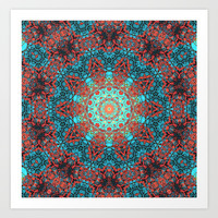 magic mandala 40 #mandala #magic #decor Art Print by jbjart
