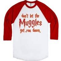 Don't Let The Muggles Get You Down-Unisex White/Red T-Shirt