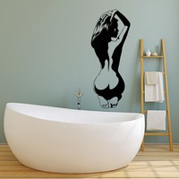 Vinyl Wall Decal Naked Woman Sexy Back Girl Hot Stickers Unique Gift (2053ig)