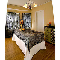 Lace Spider Web Tablecloth - Spirithalloween.com