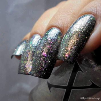 Meow-ky Way - Silver Flakie & Pink to Green Shifting Topper