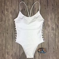 One Piece Hollow Bikini Set Womens Swimsuit Summer Swimwear
