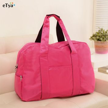 Fashion Big Capacity Women Travel Luggage Bag  Folding Carry-on Duffle crossbody Bags WaterProof Travel Handbag