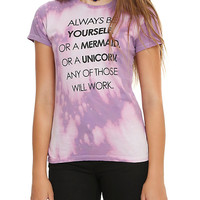 Always Be Yourself Tie Dye Girls T-Shirt