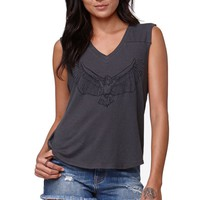 Kendall & Kylie V-Neck Muscle Tank - Womens Tee - Black