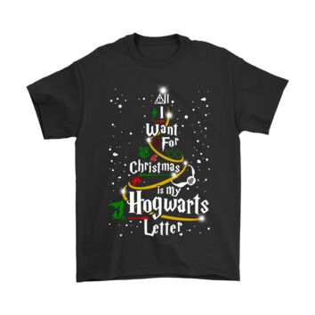 QIYIF All I Want For Christmas Is My Hogwarts Letter Harry Potter Shirts