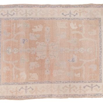 6x8 Distressed Oushak Carpet
