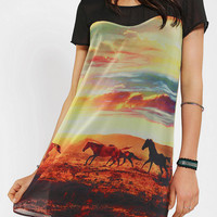 Urban Outfitters - Sparkle & Fade Silky Wild Horses Dress