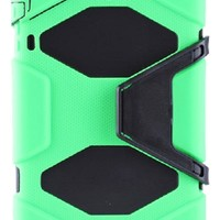Huaxia Datacom Shockproof Dirtproof Rugged Hybrid Defender Dual Layer Extreme-Duty Military Protective Survivor Case for Both New Apple Mini 2 And iPad Mini 1 - Light Green