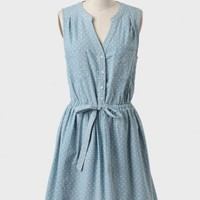 Ellsworth Polka Dot Chambray Dress