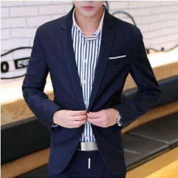 Men's Fashion Pocket Design Blazer