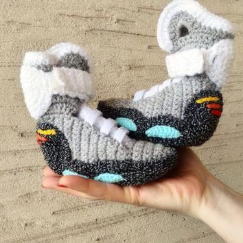 Marty McFly Nike Air Mags Baby Shoes, Back to the Future, Baby Nike Knitted Slippers,