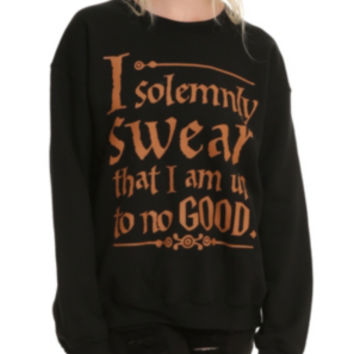 Harry Potter Solemnly Swear Girls Pullover Top