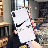 Nike X Off White Protective Iphone Case - White