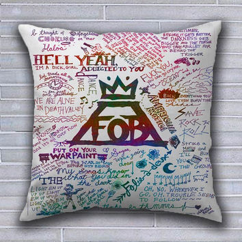 Special Design Fall Out Boys Pillow Cover For your Decor