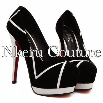 Fashion Women's Pumps With Color Block and Stiletto Heel Design #8998779