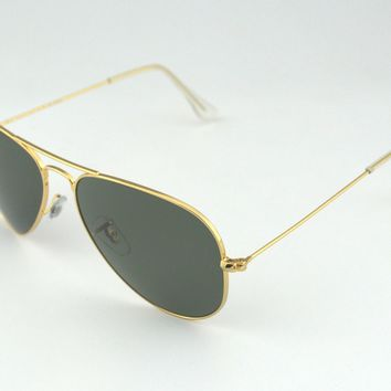 Ray Ban RB3025 Aviator Classic 001/58 Gold Frame/Polarized Green Classic G-15