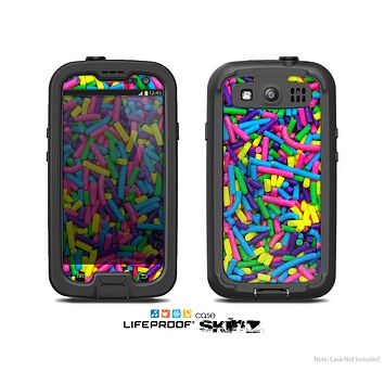 The Neon Sprinkles Skin For The Samsung Galaxy S3 LifeProof Case